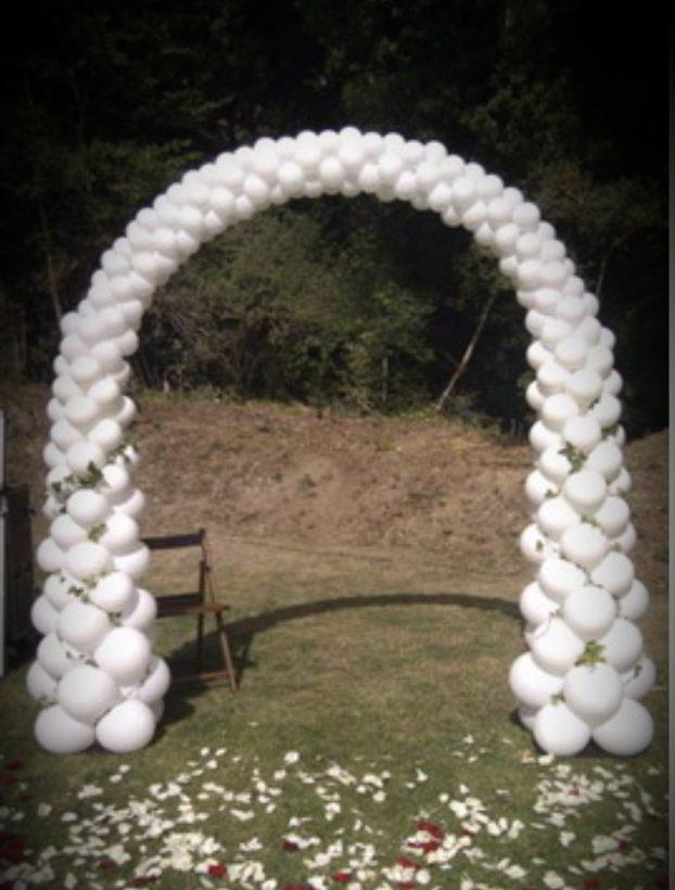 Arco de globos en regresión