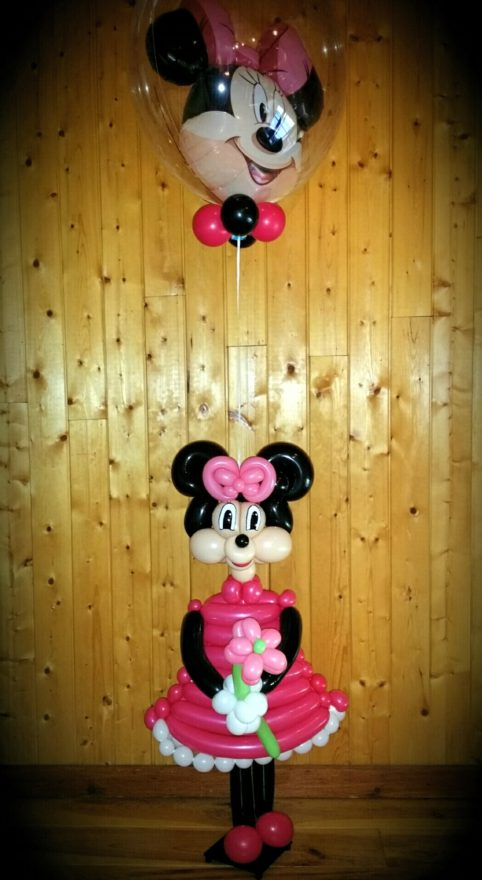Minnie mouse en globoflexia