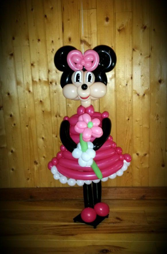 Fiesta temática Minie Mouse con globos
