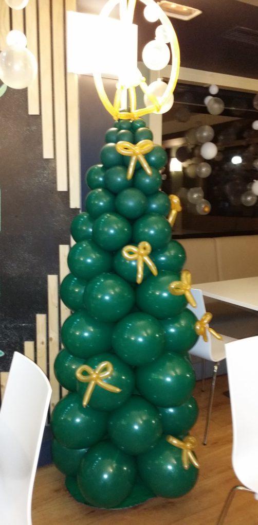 Arbol de Navidad cono globos Laguna 2017