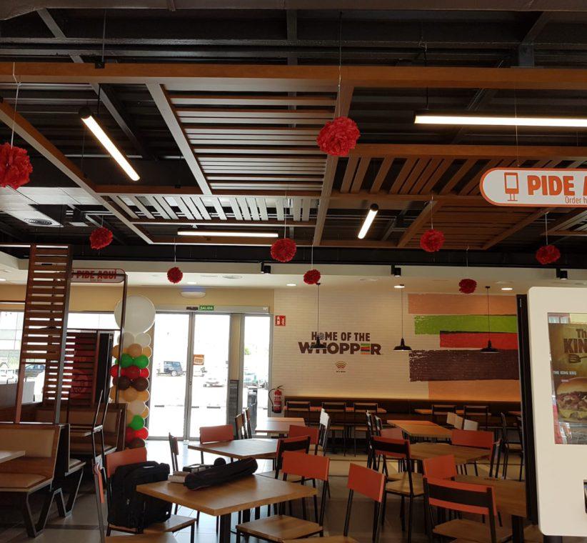 Deoración de Burger King de Laguna de Duero
